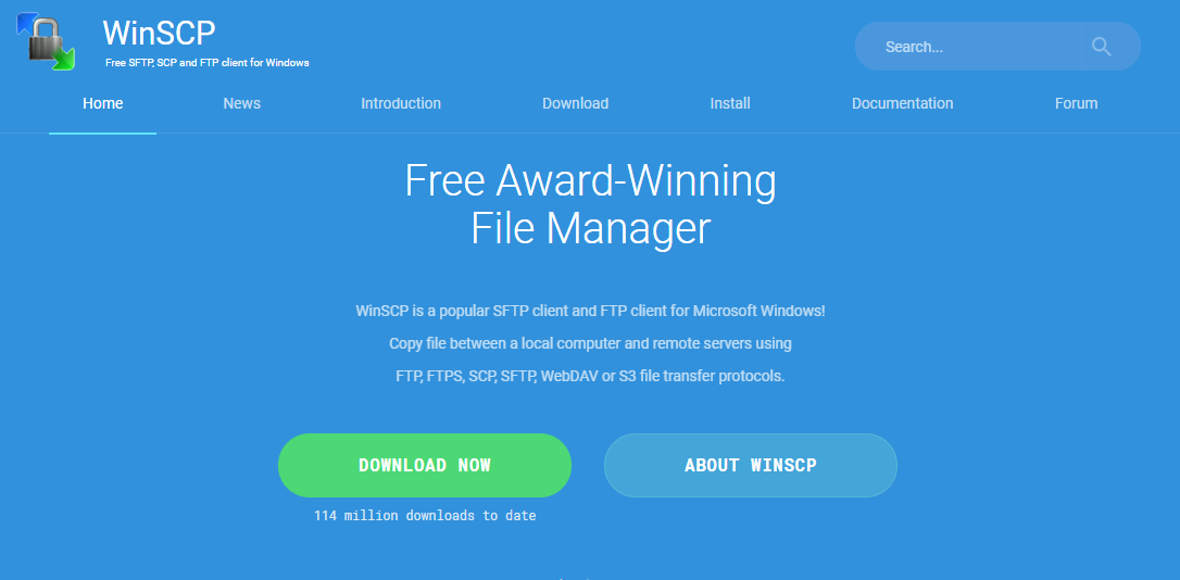 WinSCP - Best FTP software