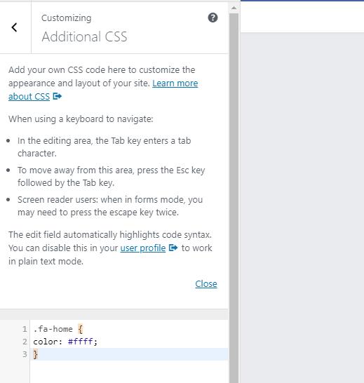 additonal CSS