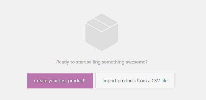 Create your first product