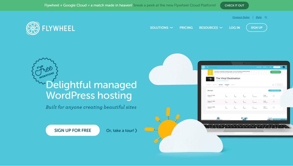 Flywheel - wordpress hostings
