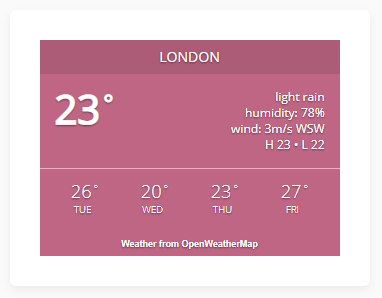 Awesome weather widget preview