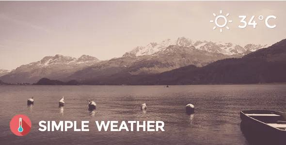 Simple weather codecanyon