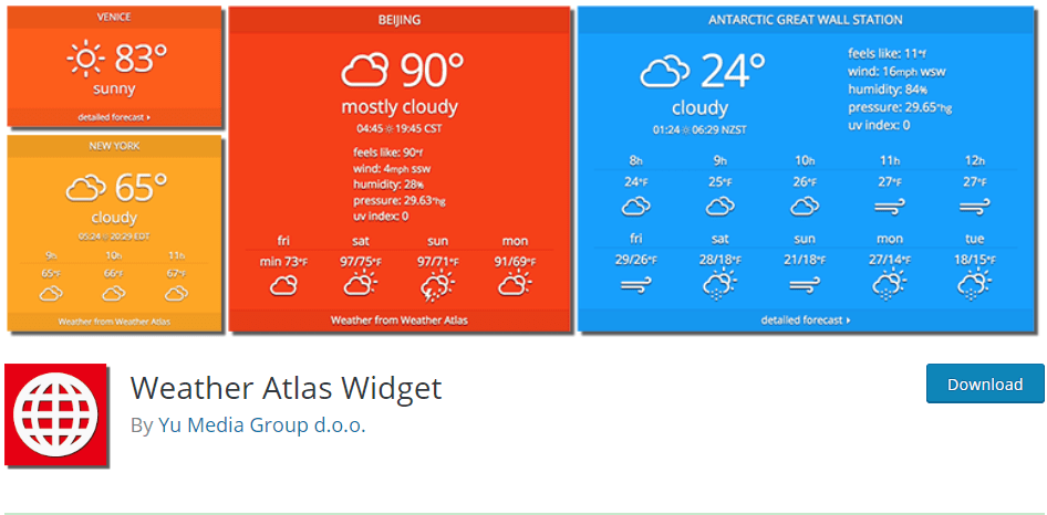 8+ Best Weather Plugins for WordPress: Self Tested & Compared 2019