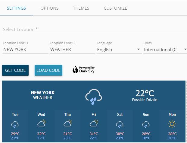 weather widget io settings